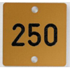 number plate, quadratic - labels/name plates