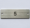 number plate, rectangular - labels/name plates