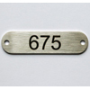 number plate, ovale - labels/name plates
