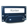 furniture handle with a label frame colored powder coated - frames/mountings